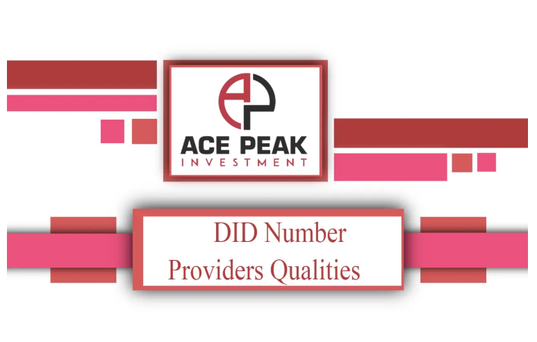 DID Number Providers Qualities - Ace Peak Investment