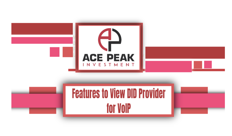 Many Features to View DID Provider for VoIP - Ace Peak Investment