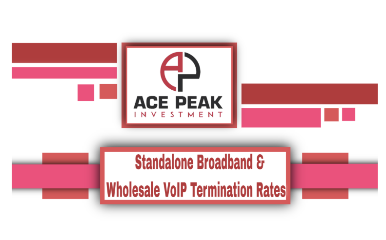 Standalone Broadband & Wholesale VoIP Termination Rates - Ace Peak Investment