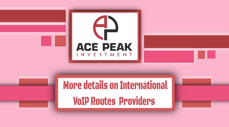 More details on International VoIP Routes Providers - Ace Peak Investment