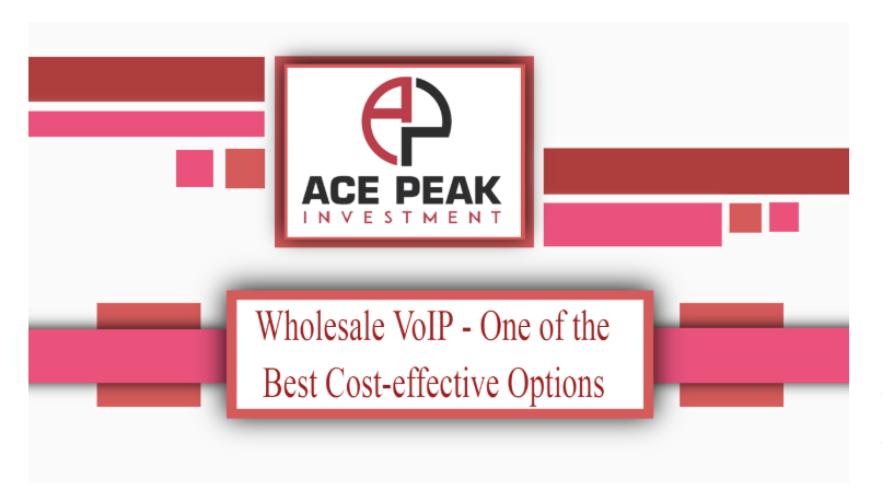 Wholesale VoIP - One of the Best Cost-effective Options - Ace Peak Investment